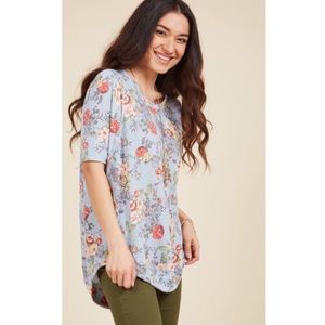 ModCloth Best of Botanical Top in Sky